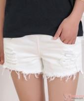 Maternity Shorts - Jeans White