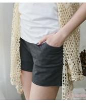 Maternity Shorts - Cotton Pure Grey