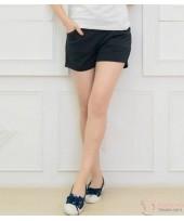Maternity Shorts - Cotton Pure Black