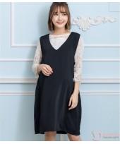 Maternity Dress - Singlet Dress Black