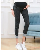 Maternity Jeans - Skinny Black Fold