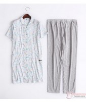 Mamma Pajamas - JP Cartoon Blue