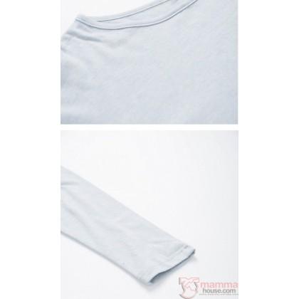 Maternity Tops - Long Simple Grey