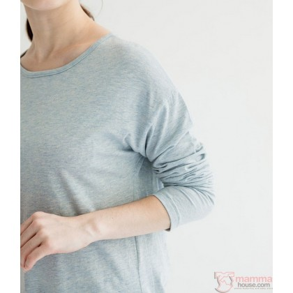 Maternity Tops - Long Simple Blue