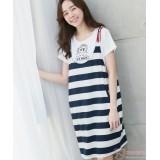 Nursing Dress - 2pcs Strap Dress Dark Blue