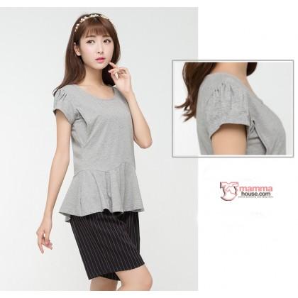 Nursing Tops - Blouse Grey