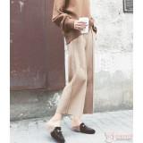 Maternity Pants - Working Wide-Leg Beige