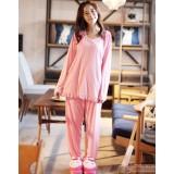 Maternity Pajamas - Polka Pink Long Sleeves