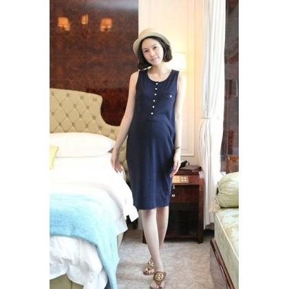 Maternity Dress - Long Blue (dress only)