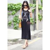 Maternity Dress - Long Triangle Black