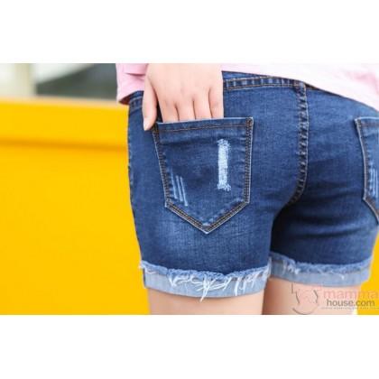 Maternity Shorts - Style Fold Short Jeans