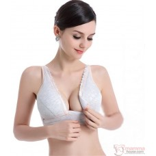 X Nursing Bra - Button Padded 2pcs Set (random color)