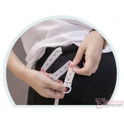 Maternity Pants - Side Line White
