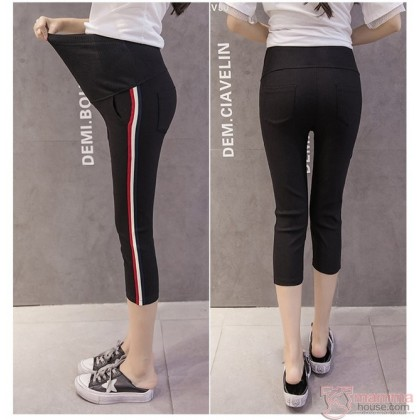 Maternity Pants - Side Line Black