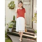 Nursing Dress - JP Charm Lace Orange White
