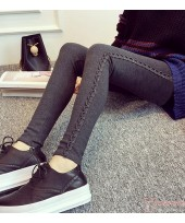 Long Legging - Long Side Gimp Grey