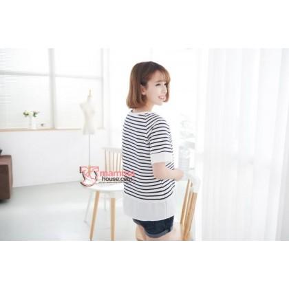 Nursing Tops - Korean Stripe  (3 colors)