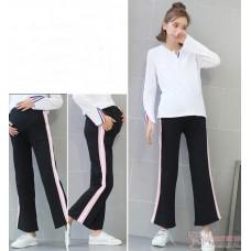 Maternity Pants - side Pink Boot Cotton Pants
