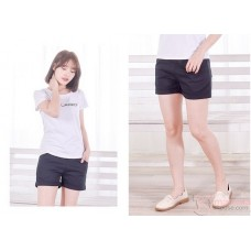 Maternity Shorts - Simple Fold Black