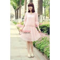 Maternity Tops - Korean Chiffon Pink
