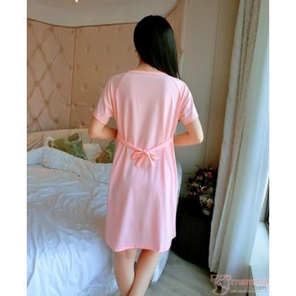 Maternity Nursing Pajamas - Dress Love Pink