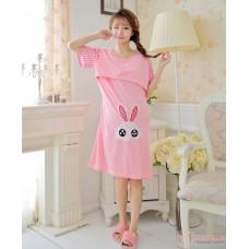 Mamma Pajamas - Dress Rabbit Grid Ear