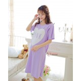 Mamma Pajamas - Dress Love Pink Short Purple