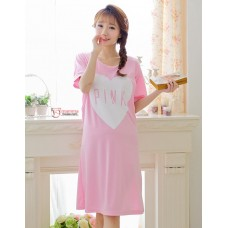 Mamma Pajamas - Dress Love Pink Short Pink