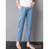 Maternity Pants - Working Linen Blue