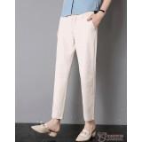 Maternity Pants - Working Linen Biege