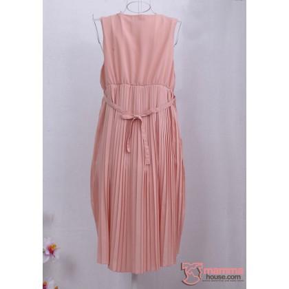 Maternity Dress - Pearl Chiffon (Pink or Purple)