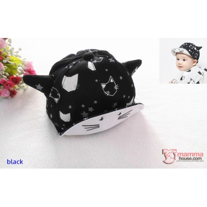 Baby Cap - Kitten Black