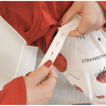 Maternity Nursing Pajamas - Long My Berry Orange Red