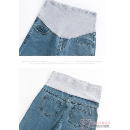 Maternity Jeans - Straight Style Dark Blue