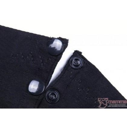 T Nursing Bra - Hands Free Black Buttons