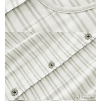 Mamma Pajamas - JP Stripe White (set)