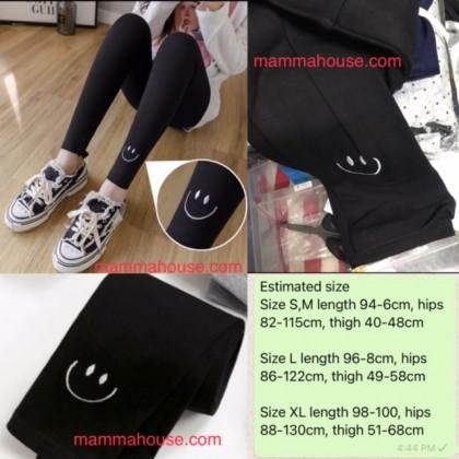 Maternity Cotton Legging - Smile Legging Black