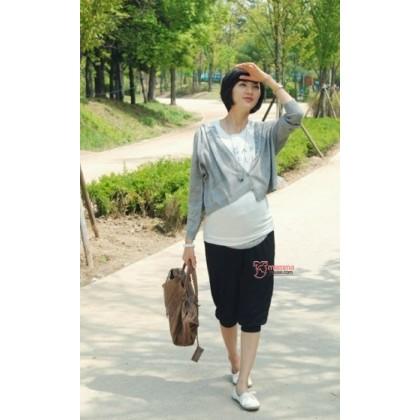 Maternity Cotton Pants - 7 Korean Lantern Black