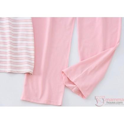 Mamma Pajamas - JP Stripe Pink (set)