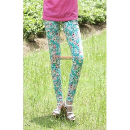 Maternity Pants - Long Flora Green