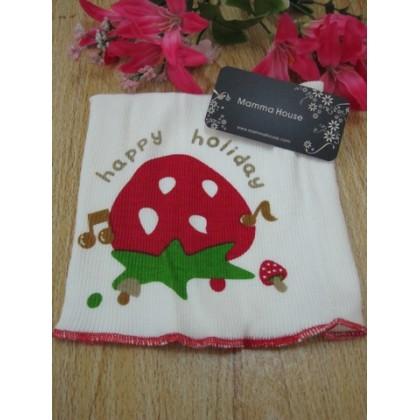 New born baby - seamless belly wrap strawberry