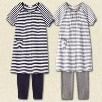 Maternity Nursing Pajamas - Dark Blue Stripe (1 set)