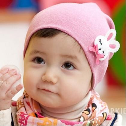 Baby Hat - Rabbit Pink