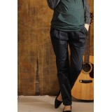 Maternity Long Pants - Working Button Black (S~XL)