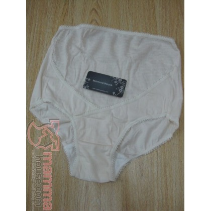 Maternity Panties - Korean Wave White