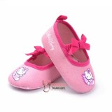 Baby Shoes - Kitty Ribbon Light Pink