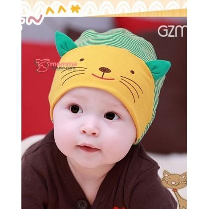 Baby Hat - Little Cat Yellow