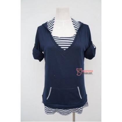 Nursing Tops - JP Cotton Hat Dark Blue