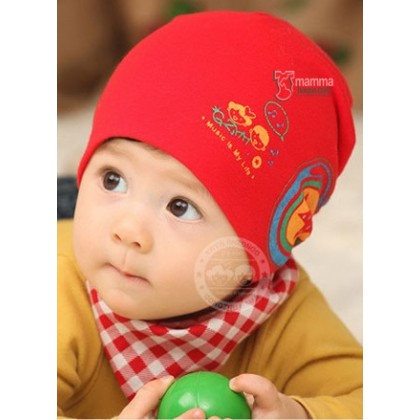 Baby Hat - Headset Red or Grey or dark pink