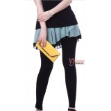 Maternity Legging - Long Chiffon Skirt  Green Blue